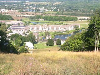 Gorgeous vista of the Village and Mountain Grand Lodge from atop Hemlock run