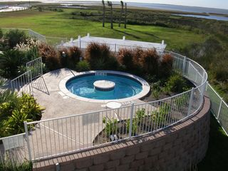 Galveston condo photo - Hot tub with views