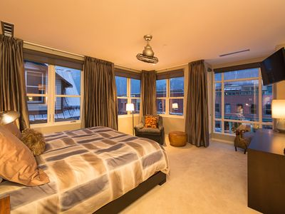 Stunning master bedroom suite with spectacular views.