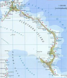 Map of Eleuthera