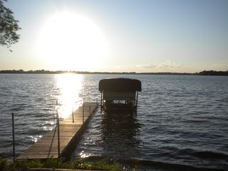 Howard Lake cabin photo - Dock & Pontoon
