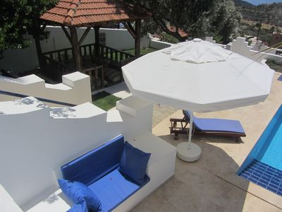 Looking down on Villa dreams pool area