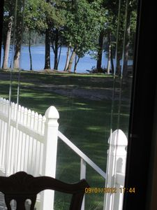 view out of dining room door