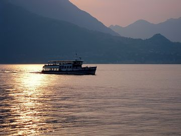 Beautiful Lake Como sunsets