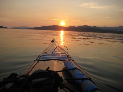 Beautiful sunset kayaking