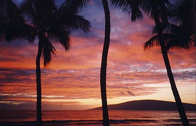 Lahaina townhome rental - Lanai Sunset Views