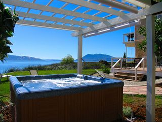 Lakeport house photo - Panoramic views from the 8 person hot tub