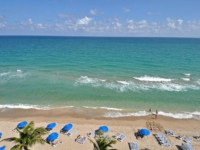 The Semi-Private beach of Fort Lauderdale,with complimentary lounges & umbrellas
