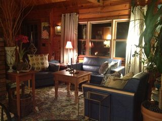 Evenings to Relax & Enjoy the charming & cozy Log Home - Kennebunk house vacation rental photo