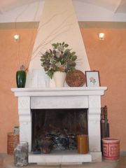 Gerace villa photo - first floor wood burning fireplace