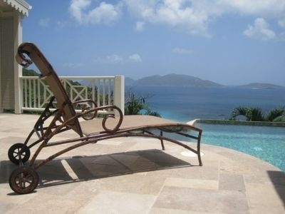 Lounge by the pool with Jost Van Dyke in site