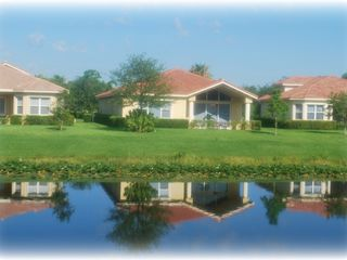 Port St. Lucie house photo - House overlooks man-made lake