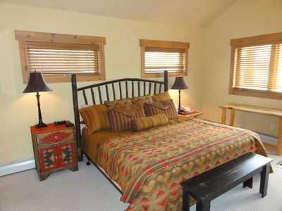 Steamboat Springs condo rental - Master bedroom on main floor