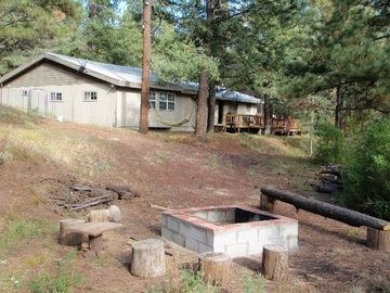 Greer cabin rental - Large pet friendly 4 bedrms cabin slps up to 14. Only minutes from Greer Lakes