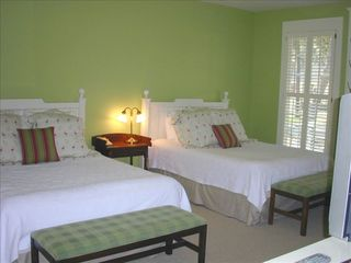 Daufuskie Island cottage photo - Second Bedroom with two queen beds & private bath