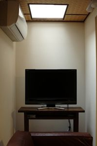 Flat screen TV with cable channels