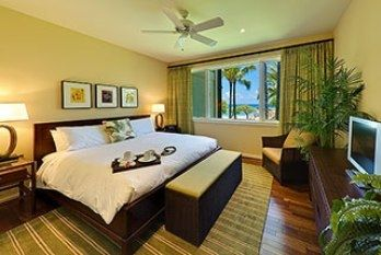 Master Bedroom with King Bed and dramatic Ocean View