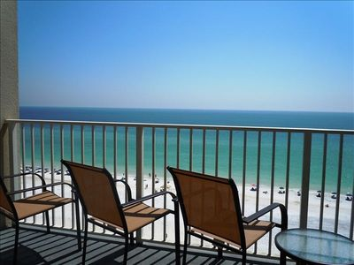 View of the Ocean from the Balcony - New Patio Furniture