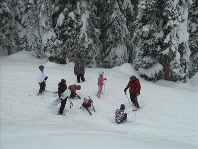 All ages and abilities can ski out from the chalet