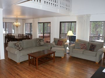 Incline Village house rental - The open floor plan is great for large families/groups, with direct deck access