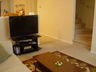 Calgary townhome rental - 40' TV complete with Cable and 45+ channels!