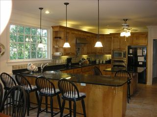 Seabrook Island house photo - Huge custom kitchen with granite countertops