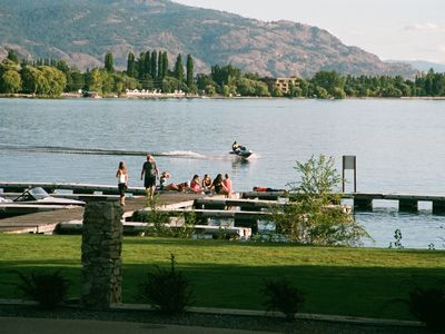 Beautiful Lake Osoyoos and private beachfront