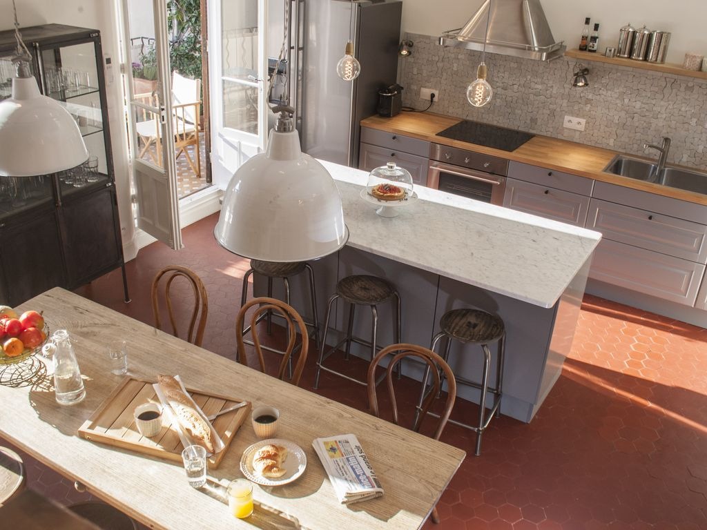 Maison du village: newly renovated town house on quiet street in ...