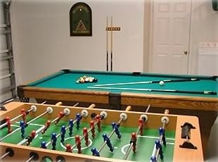 Clear Creek villa rental - Games Room Slate Bed Pool Table/ Foosball Table/ Electronic Dart Board