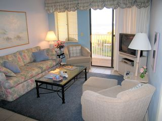 Fort Morgan condo photo - Your living room with custom window treatments - how relaxing