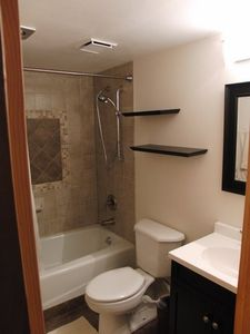 Modern Bath room. 1 of 2 in the unit. 1in 310 and 1 in 312