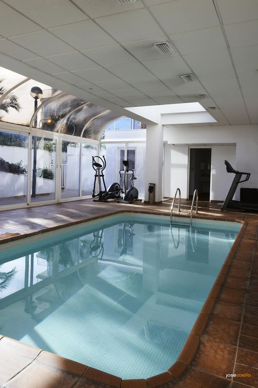 Indoor pool, gym and sauna