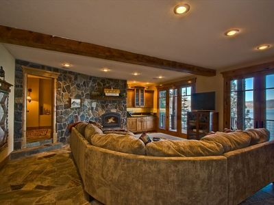 Family Room and Wet Bar and Gas Fireplace