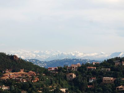 View of the Alps (from the house, across the Miramar peninsula)