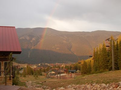 Rainbow in Summer with SKY Range in background