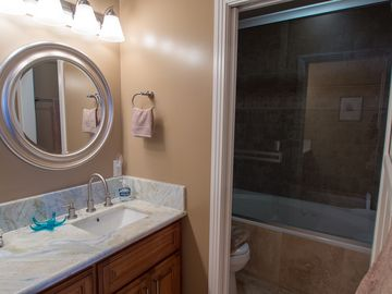 Master bath, Second vanity and Shower and Jet Tub