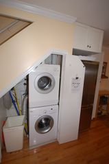 Downtown - Washington DC townhome photo - Stacking Washer and Dryer available under the stairs