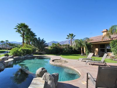 La Quinta house rental - Amazing view of the Santa Rosa Mountain while sitting in the Hot Tub