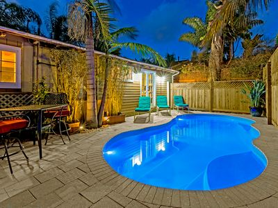 Poolside Paradise - steps to the beach with private pool and hot tub
