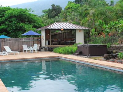 Outdoor Gazebo with private pool and hot tub are all yours to enjoy and relax at