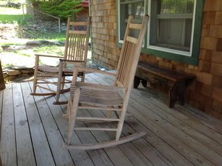 Swannanoa cabin photo - front porch relaxation