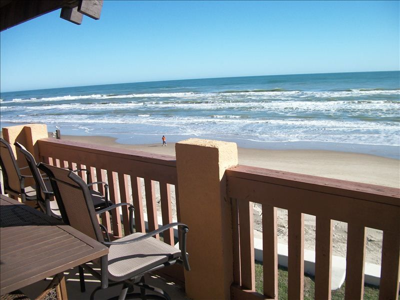 Direct beach front condo right on the beach amazing for Cabin rentals south padre island tx