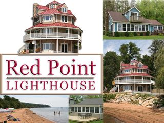 North East house photo - Beachfront rental of lighthouse-replica home or two tenant homes.