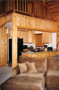Idyllwild cabin rental - kitchen view