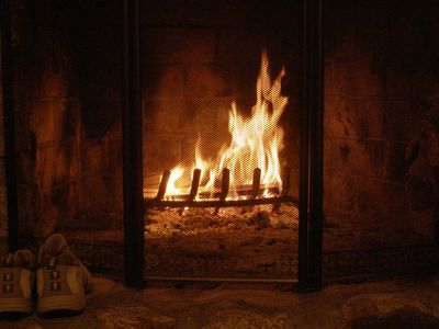 Have a roaring fire in the open fireplace