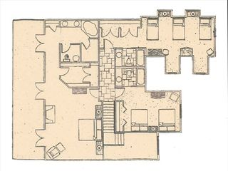 Park City house photo - Floor plan for upper level