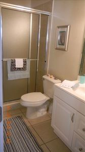 Bathroom #2 with oversized stand up shower