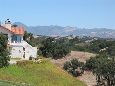 Santa Ynez cottage rental - Rear Cottage Views