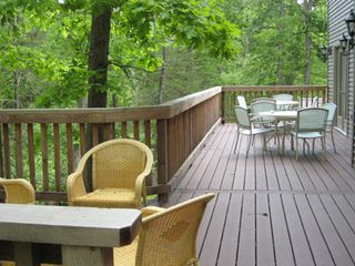 Beaver Lake house photo - Large spacious deck.