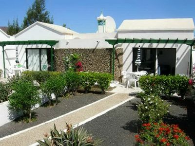 Playa Blanca bungalow rental - Front View & Garden